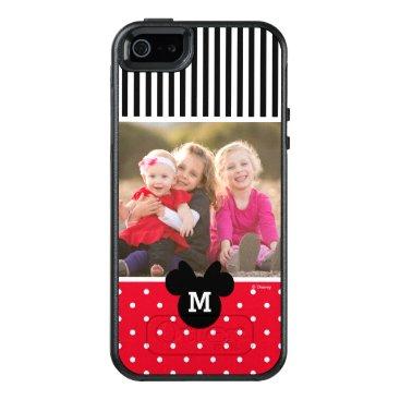 Disney Themed Minnie Red Polka Dot | Custom Photos & Monogram OtterBox iPhone 5/5s/SE Case