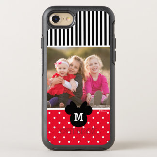 Minnie Red Polka Dot | Custom Photos & Monogram OtterBox Symmetry iPhone 7 Case