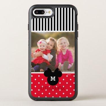 Disney Themed Minnie Red Polka Dot | Custom Photos & Monogram OtterBox Symmetry iPhone 7 Plus Case