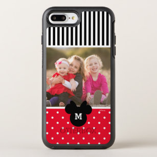 Minnie Red Polka Dot   Custom Photos & Monogram OtterBox Symmetry iPhone 8 Plus/7 Plus Case