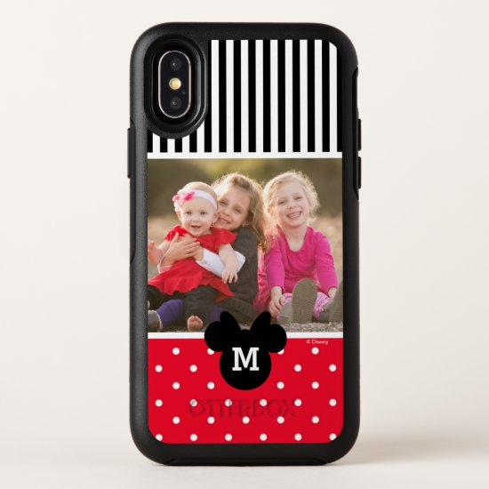 Minnie Red Polka Dot | Custom Photos & Monogram OtterBox Symmetry iPhone X Case