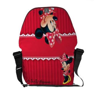 Minnie rojo 4 bolsas de mensajería