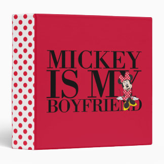 "Minnie rojo el | Mickey es mi novio Carpeta 1 1/2"""