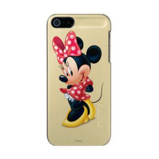 Minnie rojo el   tímido funda para iPhone 5 incipio feather shine