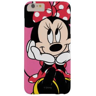 Minnie rojo y blanco 1 funda de iPhone 6 plus barely there