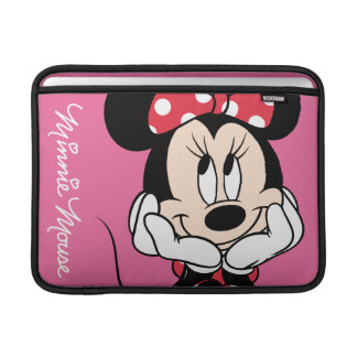Minnie rojo y blanco 1 fundas macbook air