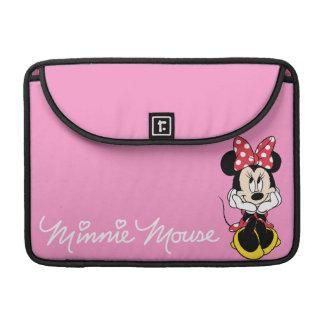 Minnie rojo y blanco 1 fundas macbook pro