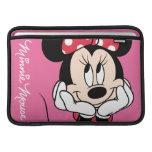 Minnie rojo y blanco 1 fundas para macbook air