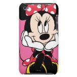 Minnie rojo y blanco 1 iPod Case-Mate cobertura