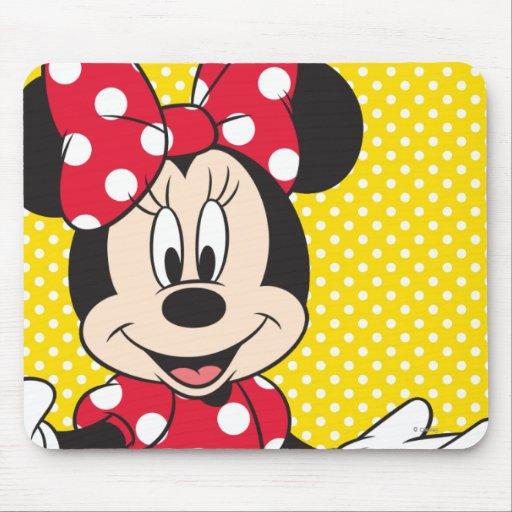 Minnie rojo y blanco 2 tapetes de raton