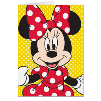 Minnie rojo y blanco 2 felicitacion