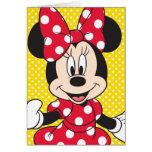 Minnie rojo y blanco 2 tarjeta de felicitación