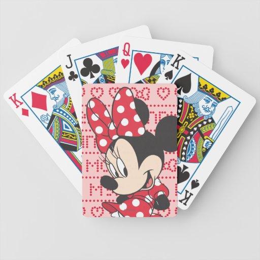 Minnie rojo y blanco 3 baraja