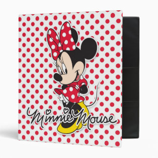 Minnie rojo y blanco 3 carpeta 1""