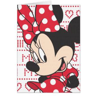 Minnie rojo y blanco 3 felicitacion