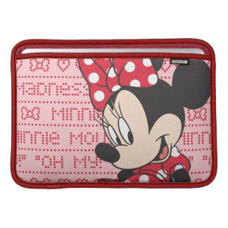 Minnie rojo y blanco 3 fundas para macbook air