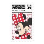 Minnie rojo y blanco 3 sellos postales