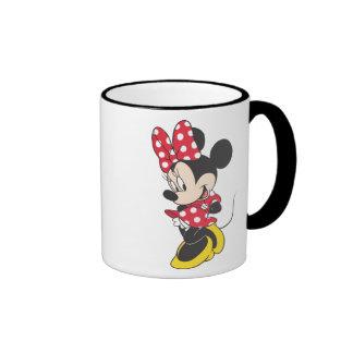 Minnie rojo y blanco 3 taza a dos colores