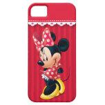 Minnie rojo y blanco 4 iPhone 5 Case-Mate cobertura
