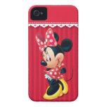 Minnie rojo y blanco 4 iPhone 4 Case-Mate protectores