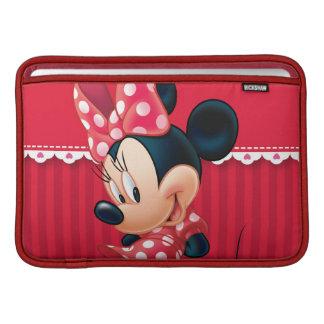 Minnie rojo y blanco 4 funda para macbook air