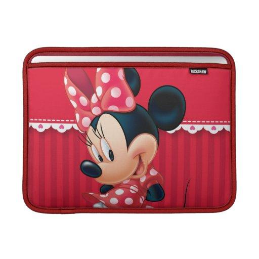 Minnie rojo y blanco 4 funda  MacBook