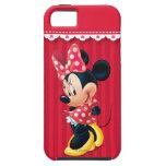 Minnie rojo y blanco tímido iPhone 5 fundas