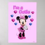Minnie rosado el | Cutie con los corazones Póster