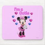 Minnie rosado el | Cutie con los corazones Tapete De Ratón