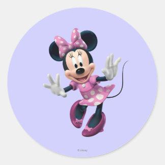 Minnie rosado el | distribuye pegatina redonda