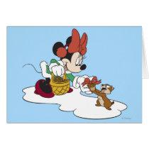 Minnie with a Chipmunk Card