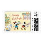 Minnie y Mickey buenas fiestas Estampillas