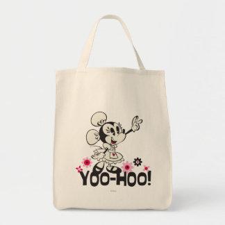 ¡Minnie - Yoo-Hoo! Bolsa Tela Para La Compra