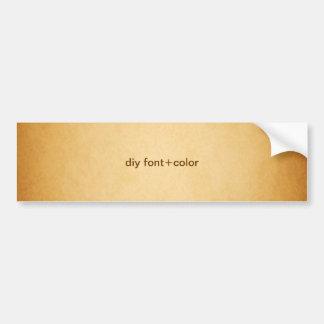 minniemay faux parchment/diy font+color bumper sticker