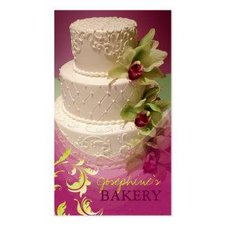 minniemay wedding cake swirls+cymbidium Double-Sided standard business cards (Pack of 100)