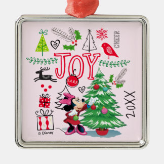 Minnie's Christmas Joy | Add Your Name Metal Ornament