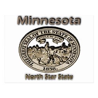 Minnnesota North Star State Seal Post Cards
