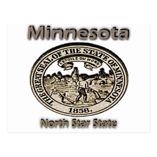 Minnnesota North Star State Seal Postcard