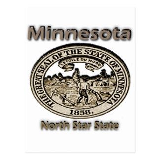 Minnnesota North Star State Seal Postcards