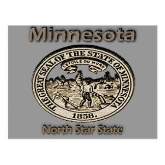 Minnnesota North Star State Seal Post Card