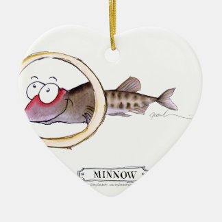 Minnow fish, tony fernandes ceramic ornament