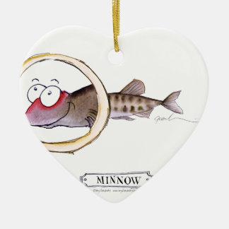 Minnow fish, tony fernandes ceramic ornament