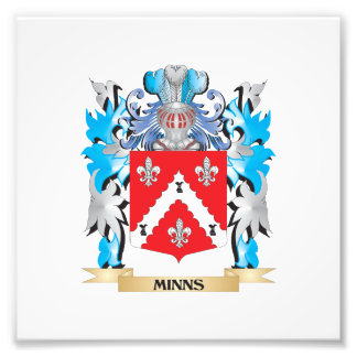 Minns Coat of Arms - Family Crest Photographic Print