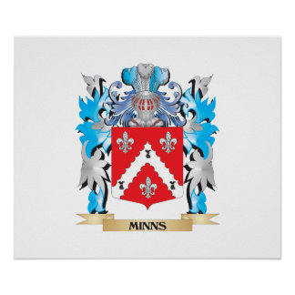 Minns Coat of Arms - Family Crest Print