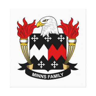 Minns Family Crest Gallery Wrapped Canvas