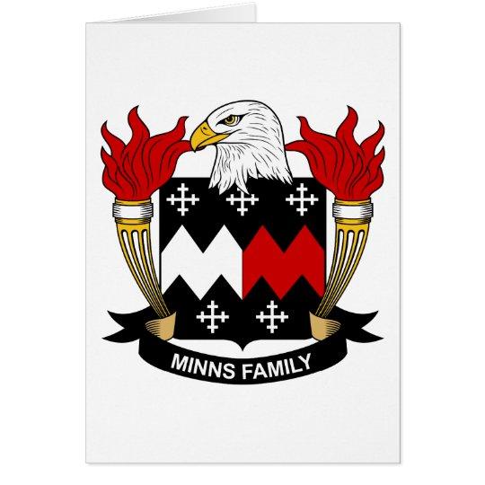 Minns Family Crest Card