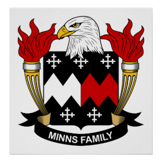 Minns Family Crest Print
