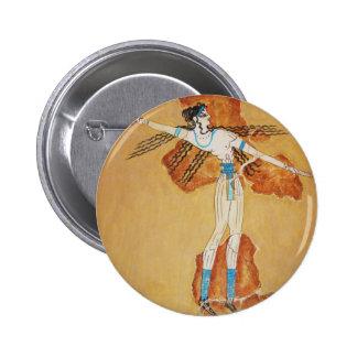 Minoan Fresco Art Minoan Art of Ancient Crete Button
