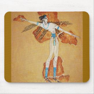 Minoan Fresco Art Minoan Art of Ancient Crete Mouse Pad