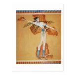 Minoan Fresco Art Minoan Art of Ancient Crete Post Card